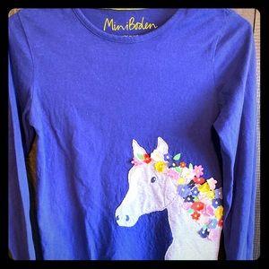 MINI BODEN Longsleeve appliqué T-shirt girls